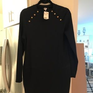 H&m never worn navy blue body-con dress
