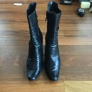 Costume National Pointed Ankle Boots Buckle 38