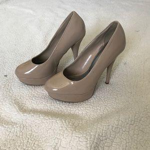 Nude Platform Heels 8.5