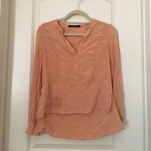 Bcbg maxazria coral silk blouse