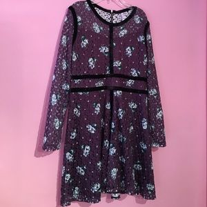 Purple floral xhilaration dress