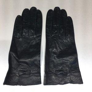 Vintage Black Leather Gloves