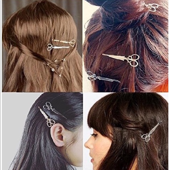 Scissor hair clips 2 clips