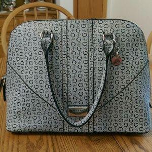 Guess grey satchel handbag