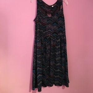 Multicolored patterned xhilaration dress