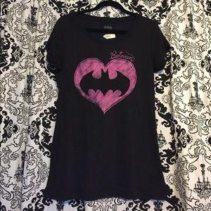 Pink Sparkly Batman Tee Shirt