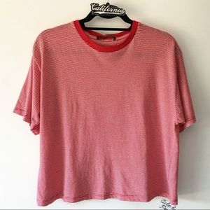 BNWT red and white striped Aleena top