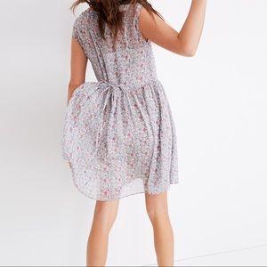 Madewell tie-back floral mini dress