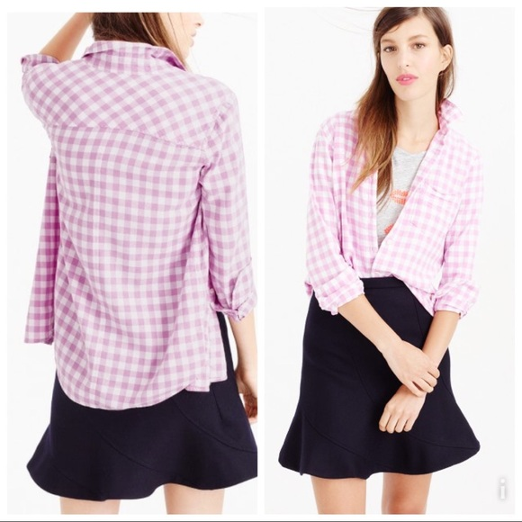 J. Crew Tops - NWT J.crew boy shirt in flannel check - 12