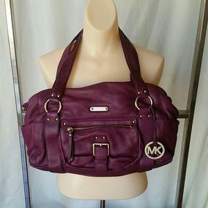 Michael Kors plum leather bag