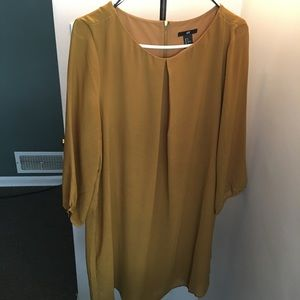 H&M Mustard Yellow Mock Dress