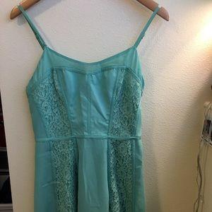 Aqua midi lace L.C. dress