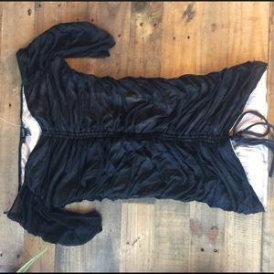 Brand new off the shoulder sheer black mini dress