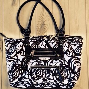 🛍TYLER RODAN St Lucia Swirl Bag Black/White-EUC