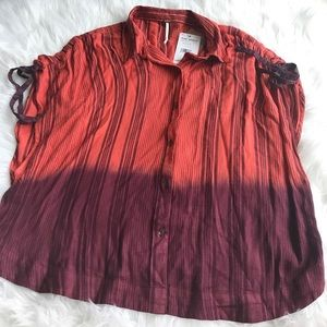 NWT Free people size med orange purple ombre top
