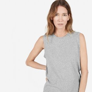 Everlane Large gray cotton muscle tee
