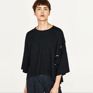 Zara wide cut t oversized t shirt!