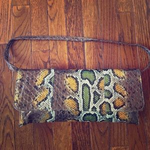 Handbags - Imitation reptile clutch