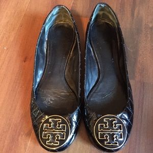 Black Tory Burch Leather Flats