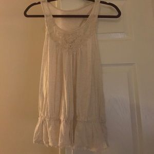 Cream laced express top