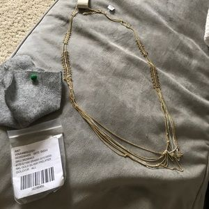 Anthropologie gold and silver necklace