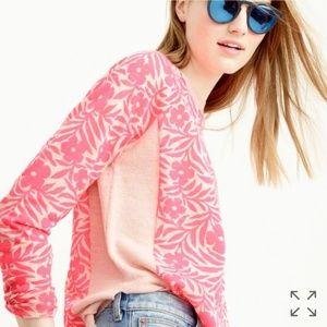 J crew Plumeria swing sweater sz medium