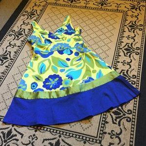 🆕 Pretty Yellow & Blue Dress 🌼🦋🌿🐳☀️