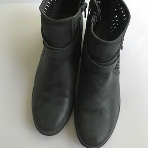 Slate Gray Ankle Boots