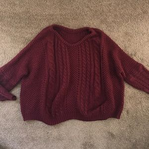 Maroon wooly sweater