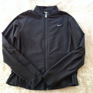 Nike Dri-fit running exercise zip jacket w pockets