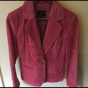 Beautiful pink suede jacket.  Worn once!