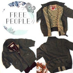 {Free people} Cropped short sleeved jacket