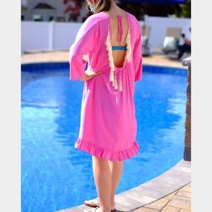 Other - Pink tassel coverup XS
