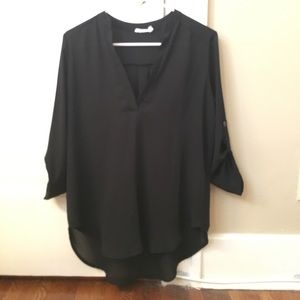 Lush black blouse- size small