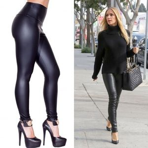 Pants - 🎊SALE🎊High waisted Faux Leather Legging black