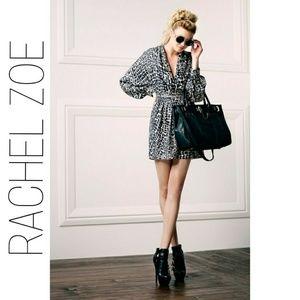 🌟HP🌟 RACHEL ZOE Silk BL Snow Shawl Collar Dress