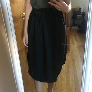 H&M midi tie waist skirt