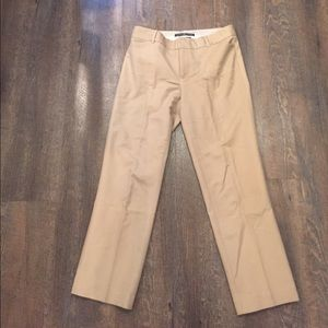 Stretch Cropped Ankle Pants - British Khaki