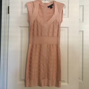 French Connection pale pink body con dress. Size 6