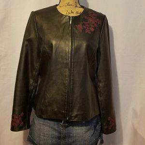 Jaclyn Smith Genuine Leather Jacket.
