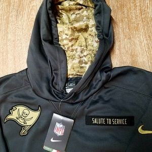 superior quality 7222a 227c9 Salute to Service Mens Hoodie NFL Tampa Bay Bucs NWT