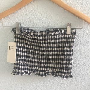 Tops - gingham tube top