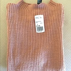 NWT Forever 21 Mauve High Neck Sweater