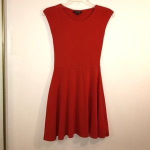 Topshop Basic Skater Orange Dress