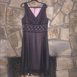 Dresses & Skirts - Black & Pink Lace Dress