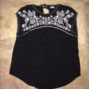 Black Hollister boho top