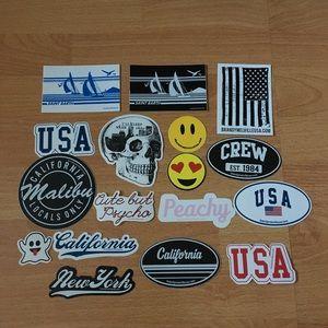 17 Brandy Melville Stickers