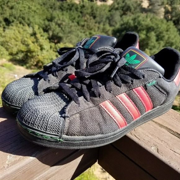 Adidas Superstar Original Hemp black red  liefert