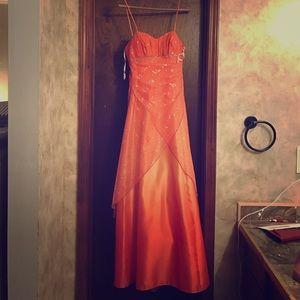 Dresses & Skirts - Tangerine long formal dress