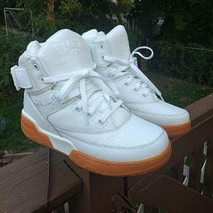 Other - Patrick Ewing white with gum bottom size 9 mens